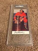 JEAN BELIVEAU Signed PSA/DNA Montreal Canadiens postcard AUTO Molson Export