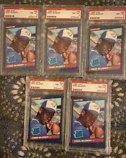 1986 Leaf Canadian #28 Fred McGriff Rookie RC lot (5) PSA 8 NM-MT $8/card!! rare