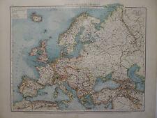 Landkarte Europa - Politische Übersicht, Lithographie, Andrees 1897