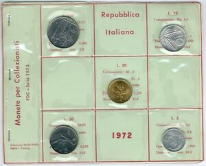 Italy 5Item´s/Coinset 1972 UNC.-