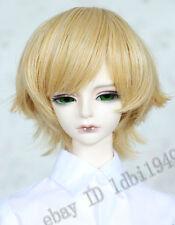 "1/4 7-8"" LUTS SD BJD DOD LUTS Dollfie Doll Wig Short Hair Blonde"