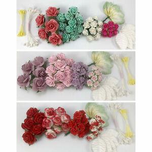 Special 35pc Mulberry Paper Flower Kit DIY Wedding Headpiece Scrapbook 4KB