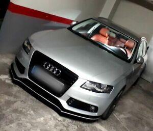 For Audi A4 B8 Front bumper valance spoiler  lip chin cup splitter