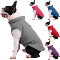 Haustier Fleece Warme Weste Mäntel Hund Katze Kleidung Jacke Hundepullover Neu