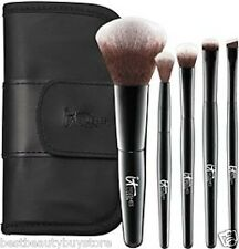 it cosmetics Face Eye Essentials Mini 5 Travel Brush Set/ Face, Eyes, Brow NEW