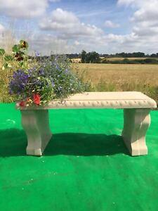 Stone/Concrete scroll garden bench seat patio furniture