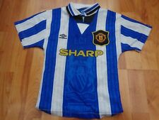 MANCHESTER UNITED MAN UTD VINTAGE 1994-1996 94-96 UMBRO 3RD SMALL BOYS SHIRT