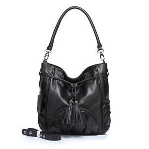 New Lusso Genuine Italian Leather Handbag - Super Soft Black!