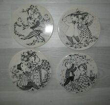 """WIINBLAD Rosenthal  APRIL JUNE OCT MARCH wall PLAQUES plates 6 """""""