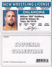WF Wrestling License BILL GOLDBERG wwf Drivers License FAKE ID driver's card wcw