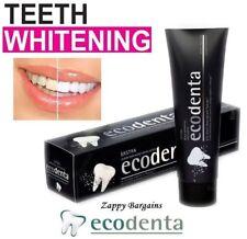 ECODENTA Charcoal Toothpaste Black Teeth Whitening Organic Teavigo Oral - 100ml