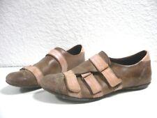 Sneakers ♥ ALAIN BASTIANI ♥ P 39 large cuir veau beige et rosé baskets femme