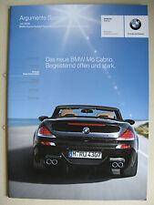 Vendedor PROSPECTO INTERNO BMW Serie 6 E64 M6 Cabrio 5.0 V10 Argumentos MJ 2006