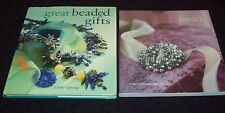 BEADING BOOKS x 2 - GREAT BEADED GIFTS by LINDA GETTINGS, BEAD: HANDMADE STYLE