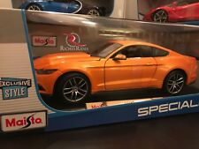 *SALE* Exclusive Maisto 1:18 Scale Diecast Model - 2015 Ford Mustang GT (Orange)