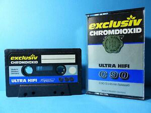 🍒 1x EXCLUSIV CHROMDIOXID ULTRA HIFI C 90 * VINTAGE Cassette Kassette кассета *