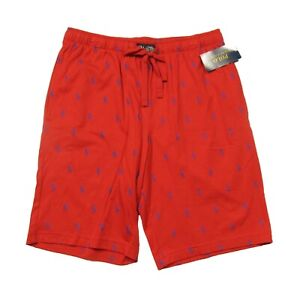 Polo Ralph Lauren Men's Red All Over Pony Print Cotton Sleep Shorts