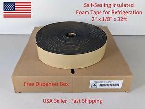 """Foam Tape Self-Sealing HVAC Rubber Pipe Insulation 2""""x 1/8""""x 32ft Armaflex"""