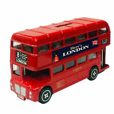 New Boxed UK London bus Money Bank  Here is London Metal 16 cm