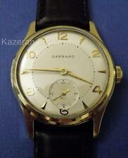 Vintage Mans Watch Garrard Smiths 18 Jewel 9ct Solid Gold Wristwatch Working
