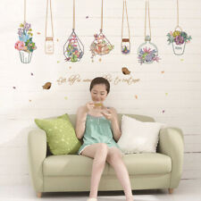 Potted Flower Plants Wall Stickers Decorative Sticker Home Decor -