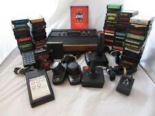Vintage Atari 2600 Console Lot 55 Games Pac Man Defender Donkey Kong Breakout