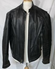 BC2  JF Men's, Black Cafe Motorcycle Jacket Hot Leathers, size 48 Heavy W Liner