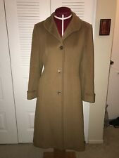 Italy CINZIA ROCCA/SAKS 100% Wool Camel Brown *SUPER SOFT* Long Coat SIZE 6
