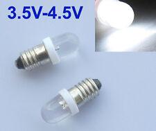 10pcs Lamp LED Bulb 3.5V - 4.5V White MES E10 1447 Screw for Torch bike bicycle
