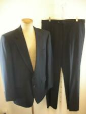 Mens 40L Aquascutum Navy Blue 100% Wool 2-Pc Suit Pants 36 X 32 Canada 2-Button