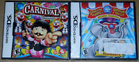 Nintendo DS Lot - Carnival Games (New) Ringling Bros. and Barnum & Bailey