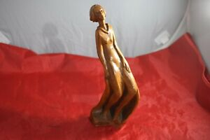 """WG Hodgson carver of a Flowing Woman out of Juniper Root 10.5""""  --14"""
