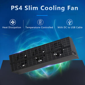 Smart Cooling Fan Temperature-Controlled Cooler for PS4 Slim Gaming Console