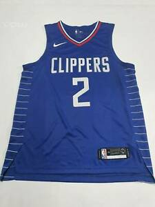 STITCHED Kawhi Leonard Los Angeles LA Clippers VAPORKNIT Blue jersey M Large