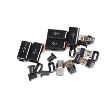 5X/set DIY Micro USB Plug Male Solder Mount Assembly Replace Connector Cable ME