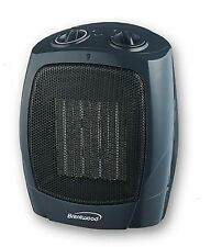 Portable Ceramic Space Heater Electric  Thermostat Small Fan C1601