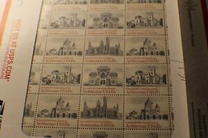 1980 FULL SHEET US STAMP $.15 CENT SCOTT # 1838-1841 AMERICAN ARCHITECTURE ISSUE