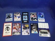 NHL Team Schedules 1992-93 Season 17 Teams Nordiques Whalers