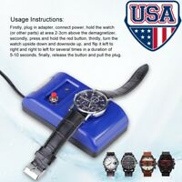 Professional Watch Repair Electrical Demagnetise Demagnetizer Tools Blue