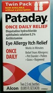 TWIN PACK Alcon Pataday Once Daily Relief Eye Allergy Itch Relief - 2.5ml (each)