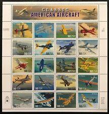 1997 Scott #3142 - 32¢ Classic American Aircraft - Full Sheet of 20 - Mint Nh