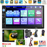 "7"" Double 2 DIN Touch Screen Car Stereo Radio Bluetooth USB AUX IN MP5 + Camera"