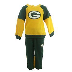 Green Bay Packers NFL Infant Toddler 2 Piece Hooded Sweatshirt Set Pants Set