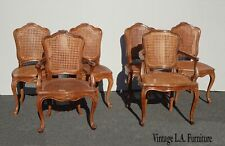 Set of Six French Country Double Cane Dining Room Chairs