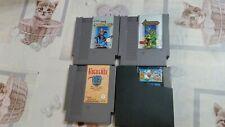 4 juegos nintendo NES Castlevania, Castlevania II Faxanadu y Super Mario Bros.