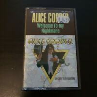 Alice Cooper Welcome To My Nightmare Cassette Music Vintage Classic