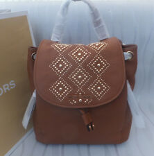 Michael Kors Genuine Riley Large Studded Leather Backpack Tan BNWT RRP £399