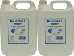2 x DEIONISED WATER 5 LITRE 5L DE IONISED CAR BATTERY STEAM IRON DISTILLED