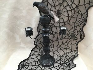 "Yankee Candle ""Crow Candelabra"" Taper Candle Holder Extremely Rare"