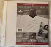 """Canson Binder Post Lined Photo Sheets 12""""x12"""" 10 Sheets:  New and Sealed"""